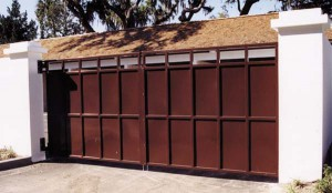 custom_fabricated_metal_slide_steel_dumpster_entrance_estate_farm_ranch_driveway_gate_