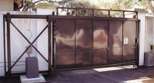 custom_fabricated_metal_slide_steel_dumpster_entrance_estate_farm_ranch_driveway_gate_